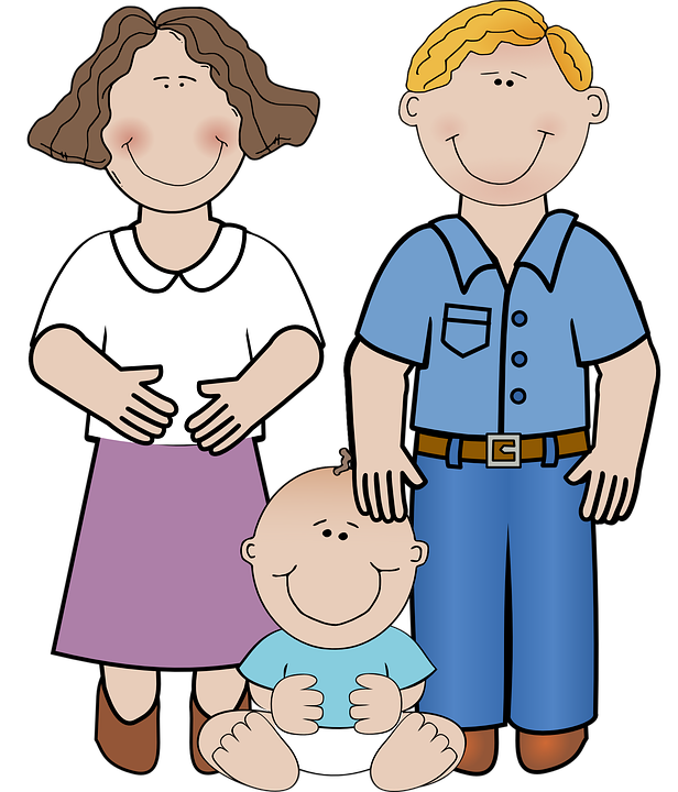 Family, Adult, Man, Child, Baby, Mother, Father - Mother And Father PNG HD
