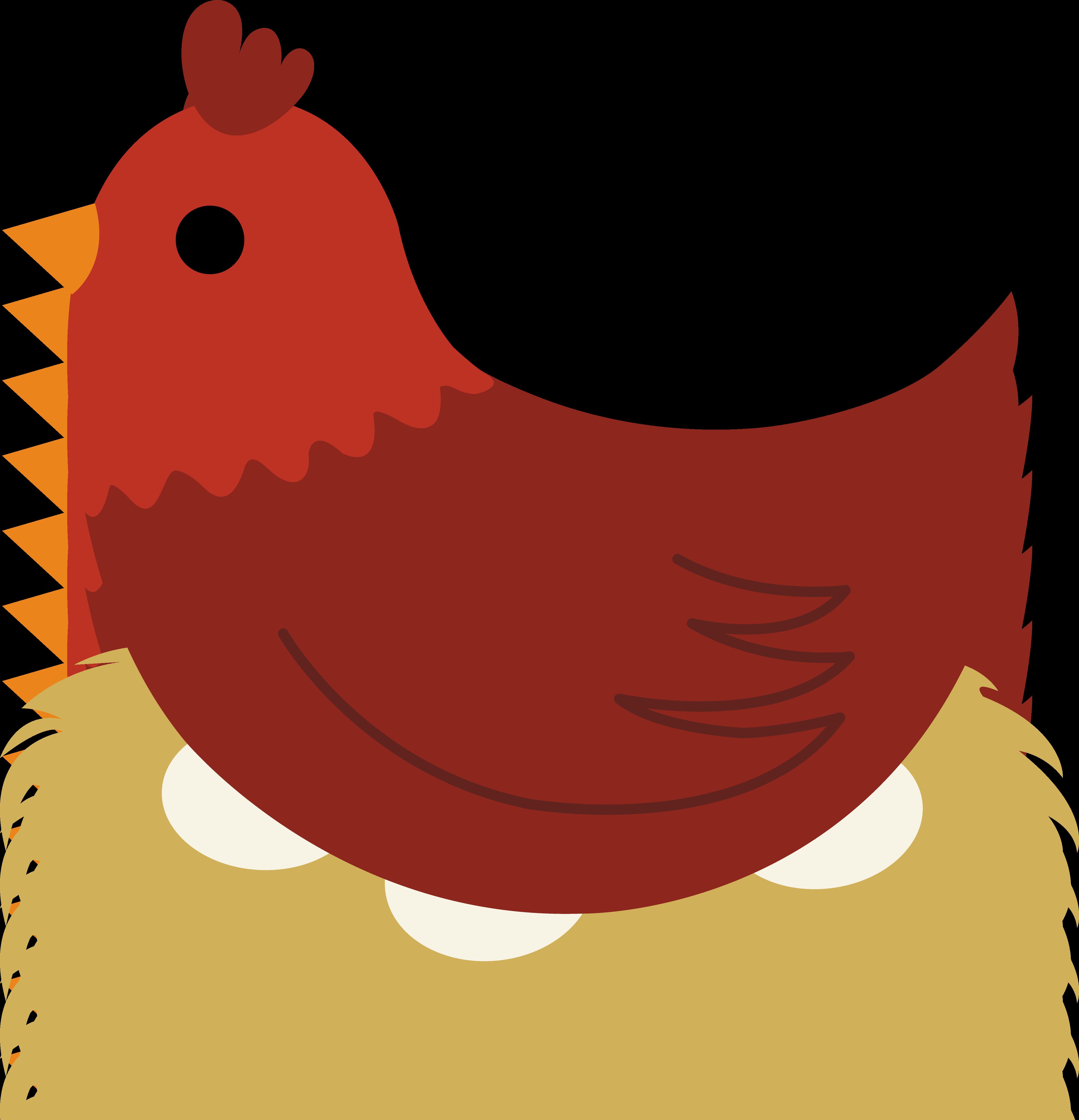 Hen On Nest Clipart - Mother Hen PNG
