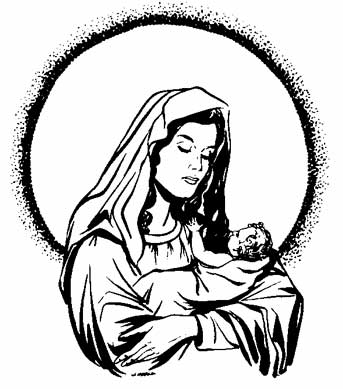 Blessed Mother Clip Art - Mother Of Jesus PNG