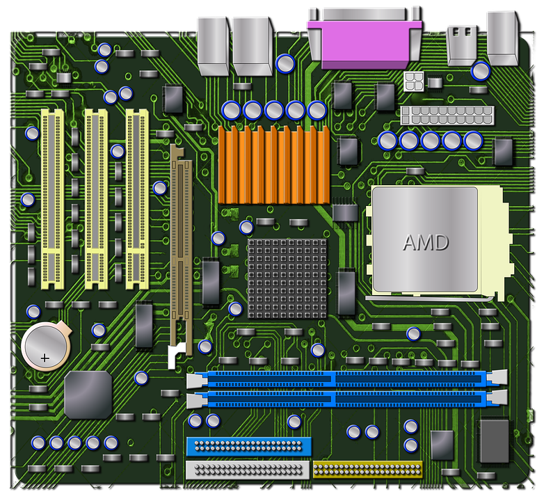 Motherboard, Pc, Computer, Amd - Motherboard PNG
