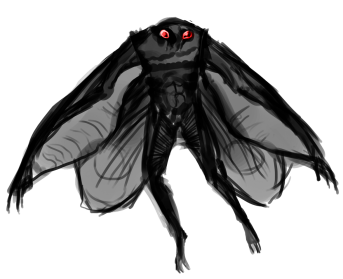 Moth Man PNG Transparent Image - Mothman PNG