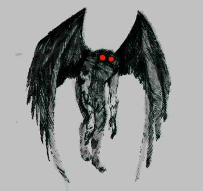 Mothman-alien-life-cryptid - Mothman PNG