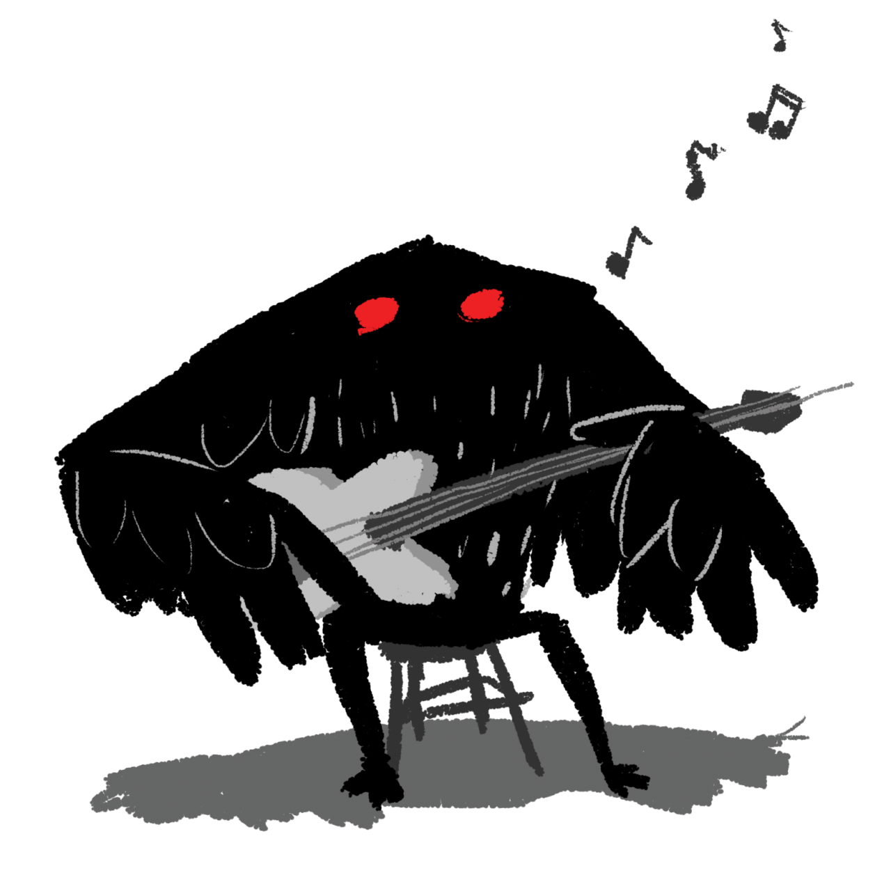 Mothman of the day is: Mothman considering getting the band back together. - Mothman PNG