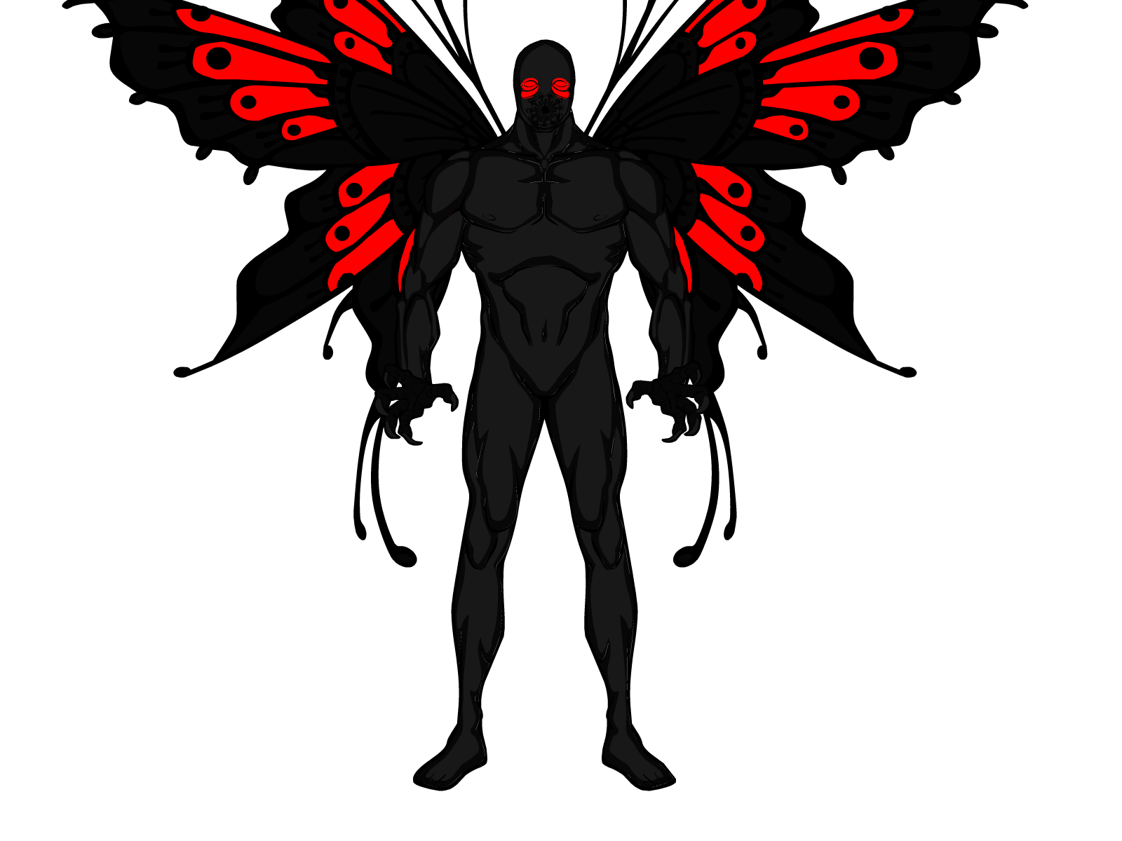 png 1600x1200 Mothman wings black background - Mothman PNG