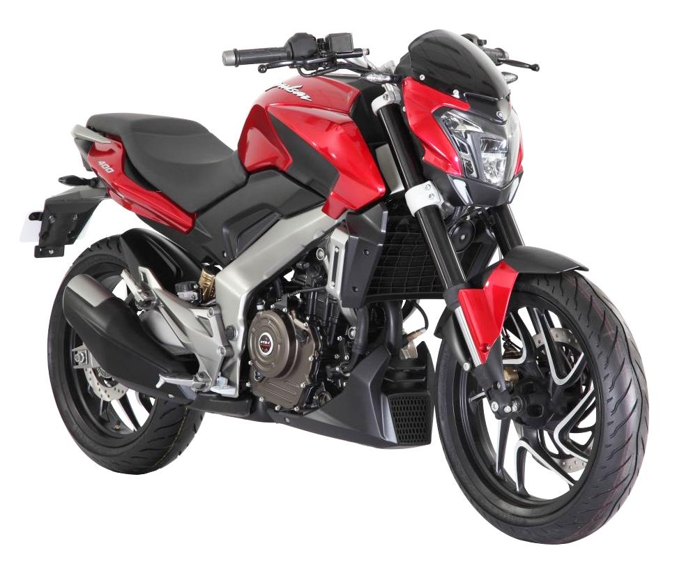 Red Bajaj Pulsar Motorcycle B
