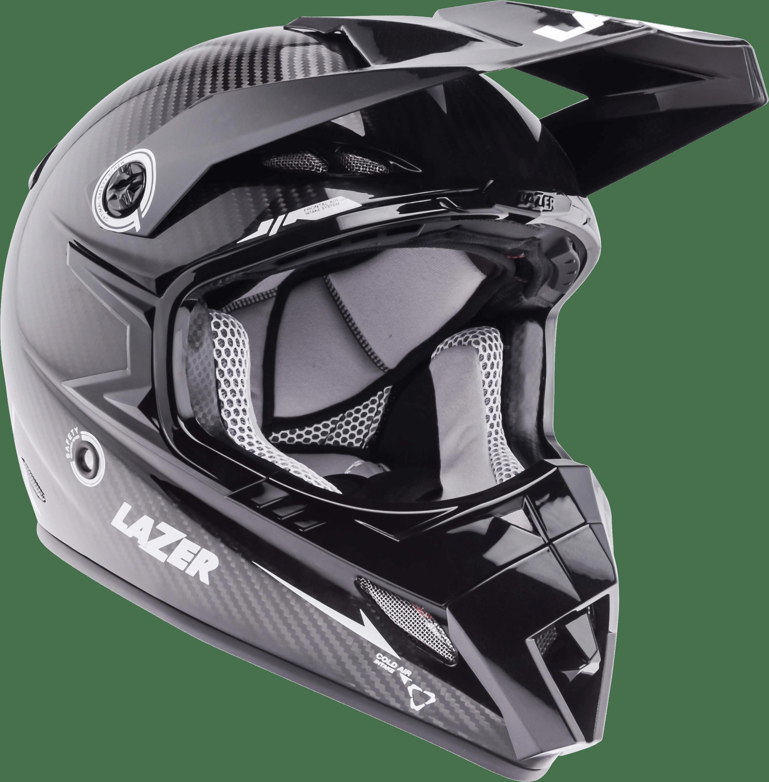 Motorcycle Helmet Lazer MX8 Pure Carbon Black Carbon White - Motorcycle Helmet PNG