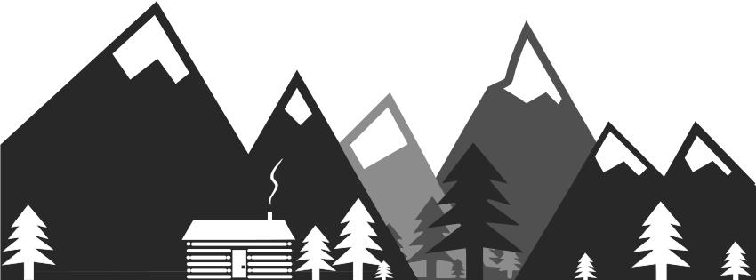 Mountain Cabin Minimalist - Mountain Cabin PNG