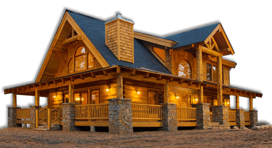 The Mountain View Lodge Log Home On Sale Now! - Built for 129K - Mountain Cabin PNG