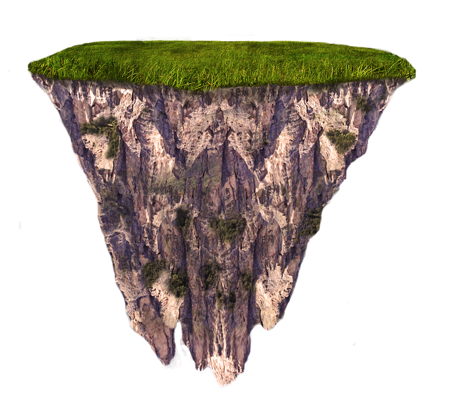 Floating Terrain Mountain 01 png and jpeg by MattiaMc PlusPng.com  - Mountain HD PNG