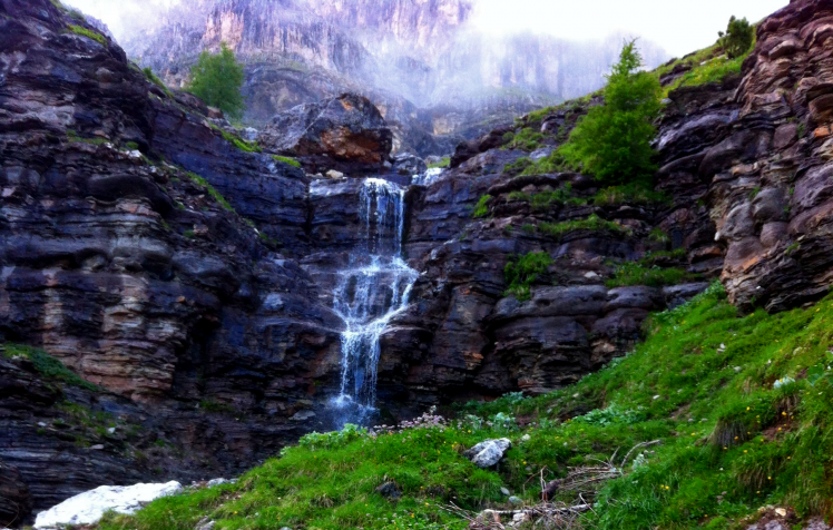 waterfall, Mist, River, Nature, Mountain HD Wallpaper Desktop Background - Mountain HD PNG