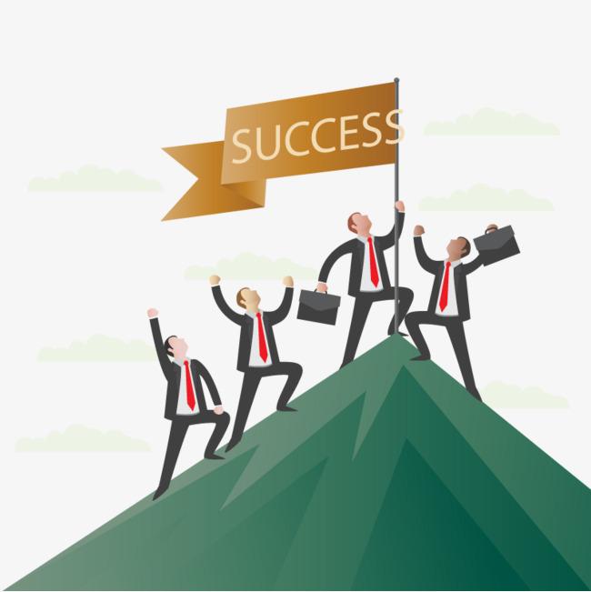 Business success vector banner, HD, Vector, Mountain Peak Free PNG and  Vector - Mountain Peak PNG HD