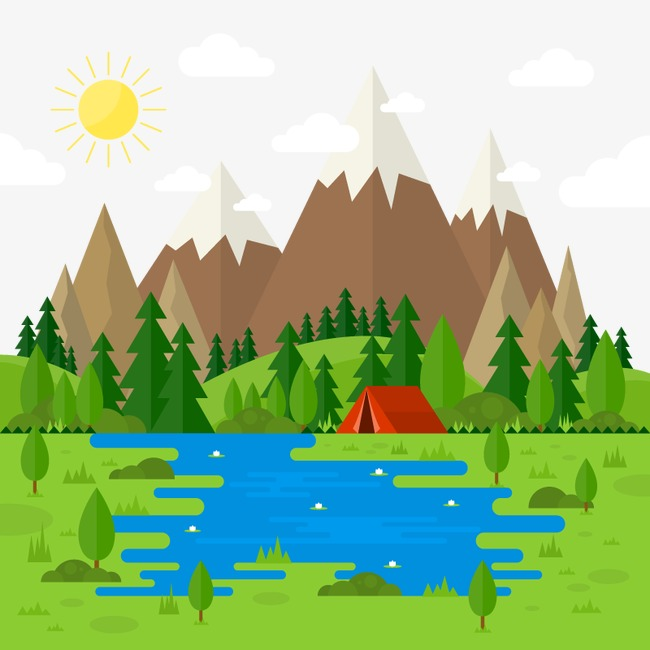 Vector Camping, HD, Vector, Mountain Peak Free PNG and Vector - Mountain Peak PNG HD