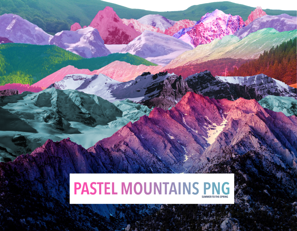 HD Pastel Mountains Png by Su