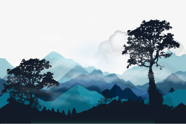 Vector the far mountains, HD, Vector, Rolling Free PNG and Vector - Mountain Range PNG HD