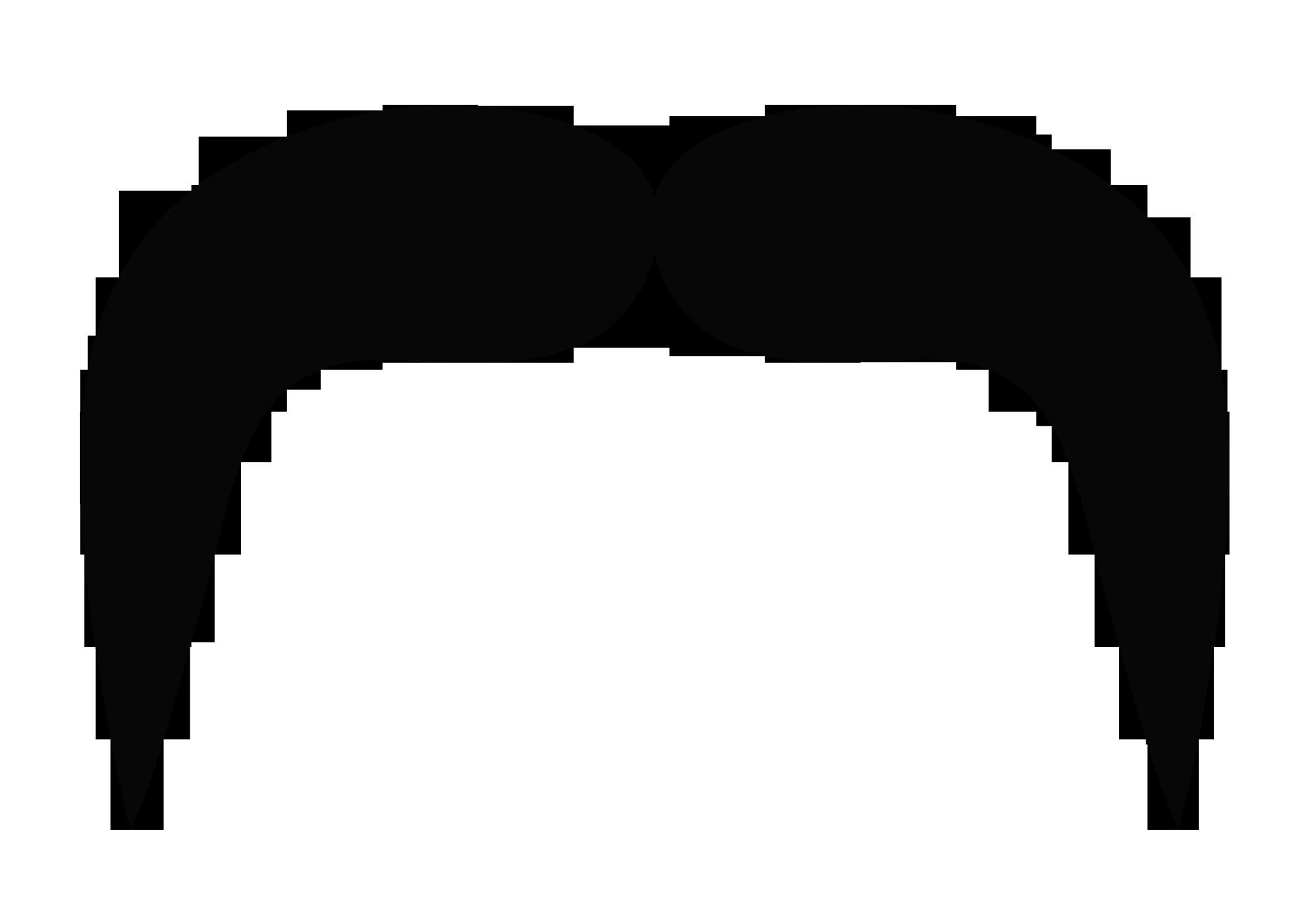 Resolution: 2000 x 1424 | Format: PNG | Keywords: People, Beard, Hair,  Mustache, Moustache, Silhouette - Moustache PNG