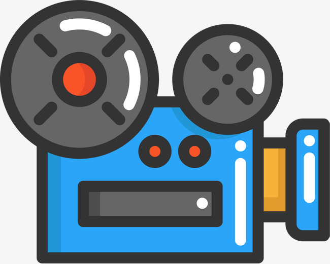 Cartoon HD Camera Icon, Filmmaking, Live News, Movie Camera Free PNG and  Vector - Movie Camera PNG HD