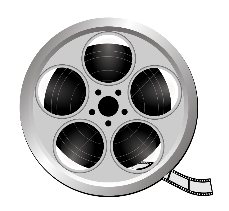 Movie reel buddhist film reel clip art at vector clip art image