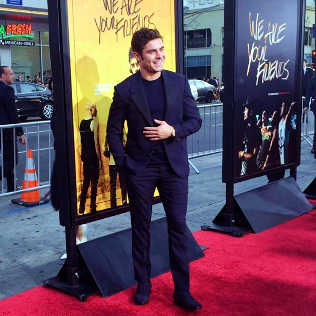 We Are Your Friends, Zac Efron, red carpet, PlusPng.com  - Movie Star Red Carpet PNG