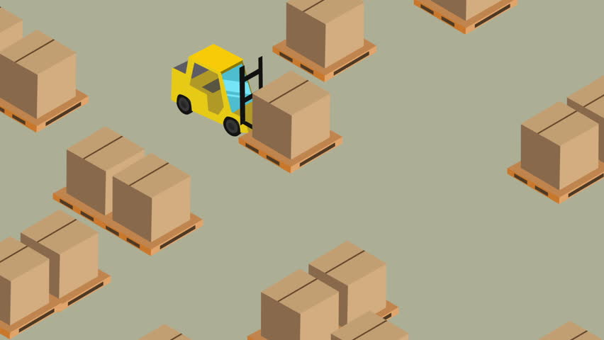 isometric cartoon package moving, or warehouse concept - HD stock footage  clip - Moving House PNG HD