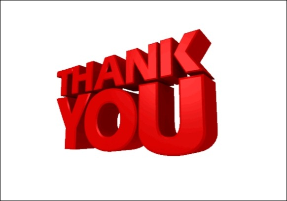 Animated thank you clipart - Moving PNG For Ppt
