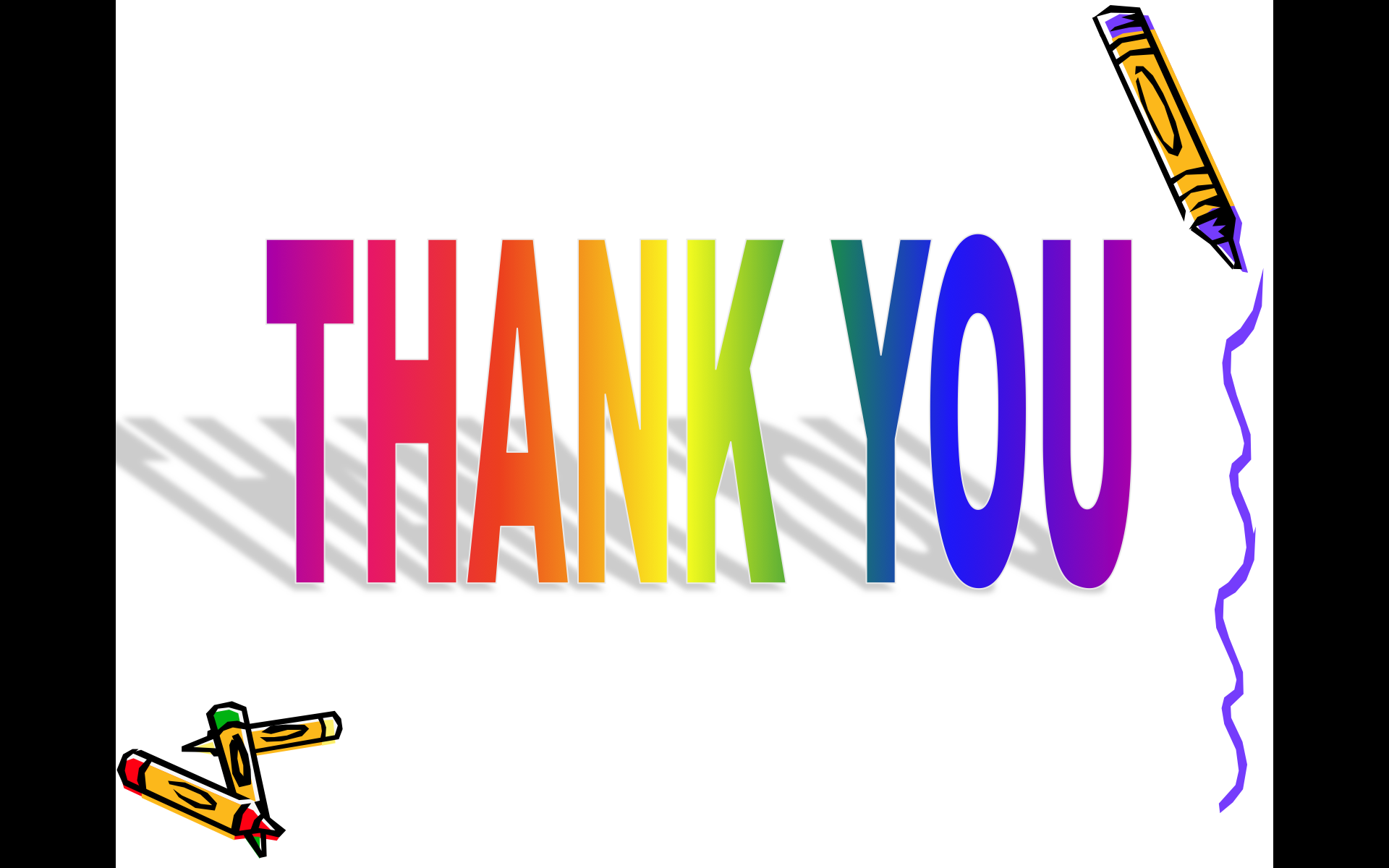 Thank You Animated Clip Art - Moving PNG For Ppt
