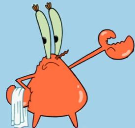 Naked Mr. Krabs.png - Mr Krabs PNG