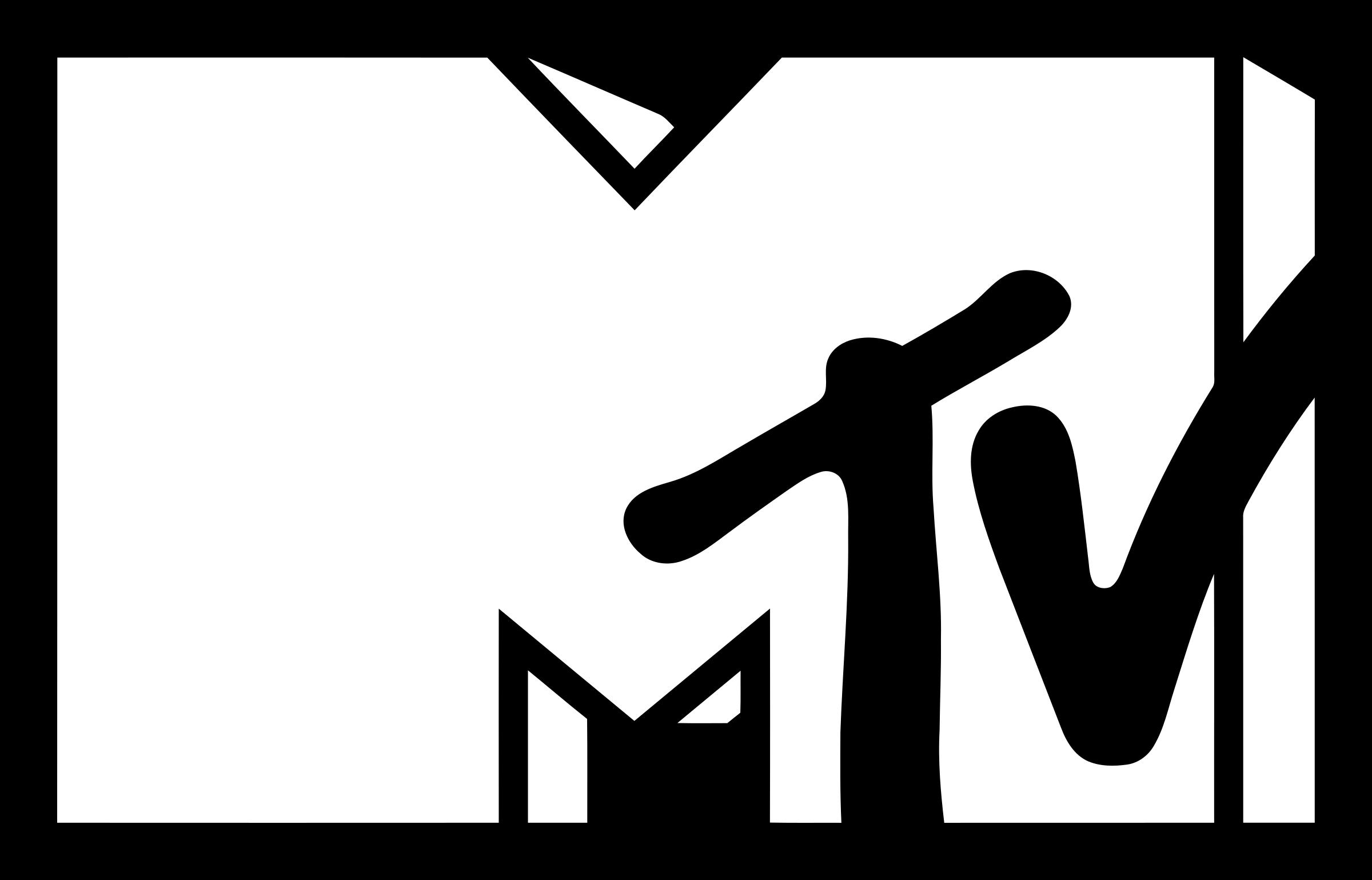 MTV Logo Black And White - Mtv Logo Vector PNG