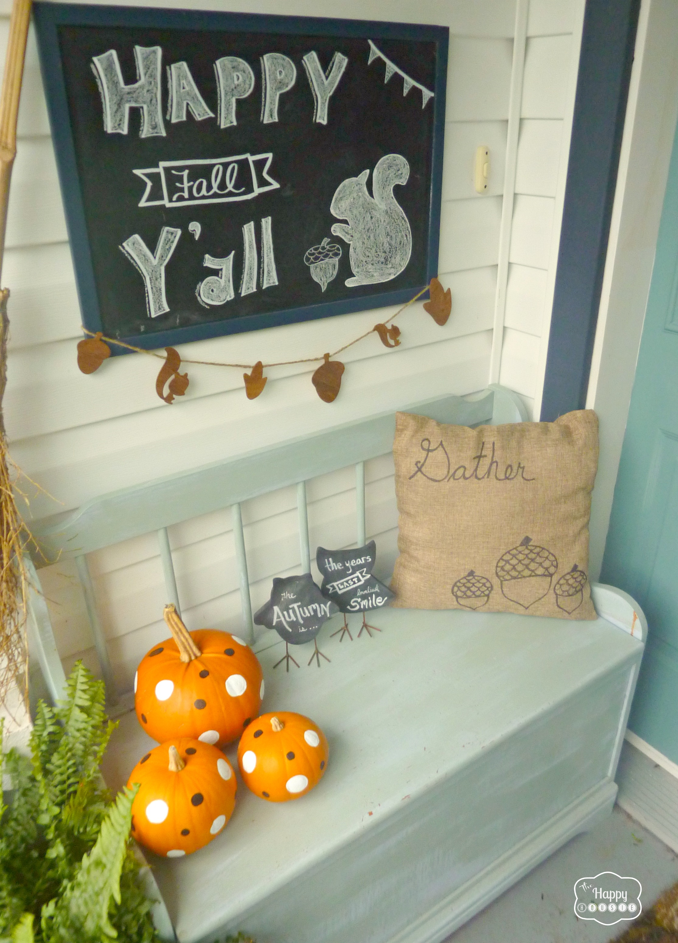 Nothinu0027 Says Fall like Mums, Chalkboards, and Polka Dotted Pumpkins | The  Happy Housie - Mums And Pumpkins PNG