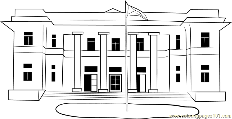 Hartford City Hall Coloring Page - Municipal Hall PNG
