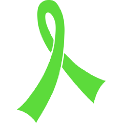 Lime Green Awareness Ribbon - Muscular Dystrophy PNG