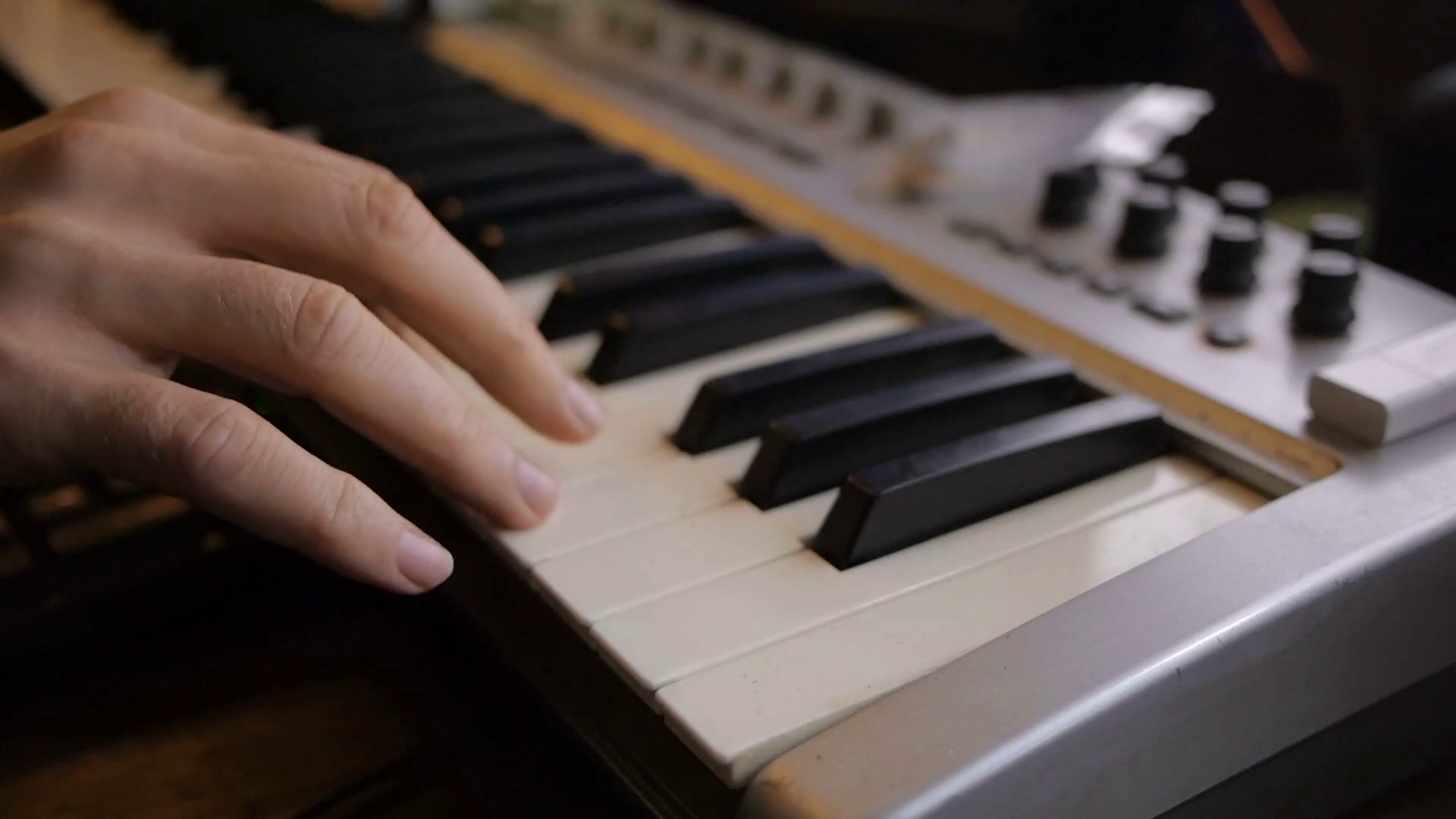 Close-up hands playing the keyboard in the music studio, music concept  Stock Video Footage - VideoBlocks - Music Keyboard PNG HD