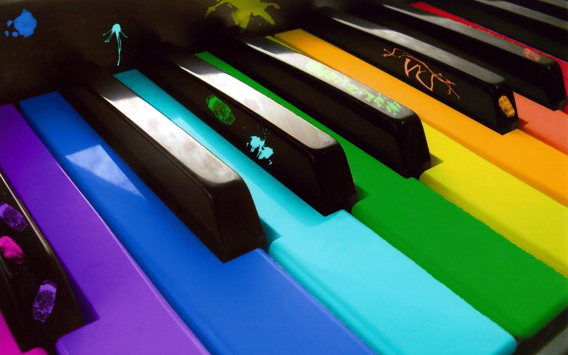 colorful-piano-keyboard-music-hd-wallpaper-1920×1200-3837 - Music Keyboard PNG HD