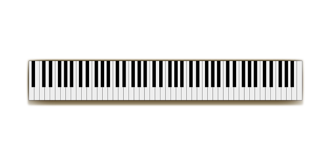 Full Size Keyboard Music Piano Piano Piano - Music Keyboard PNG HD