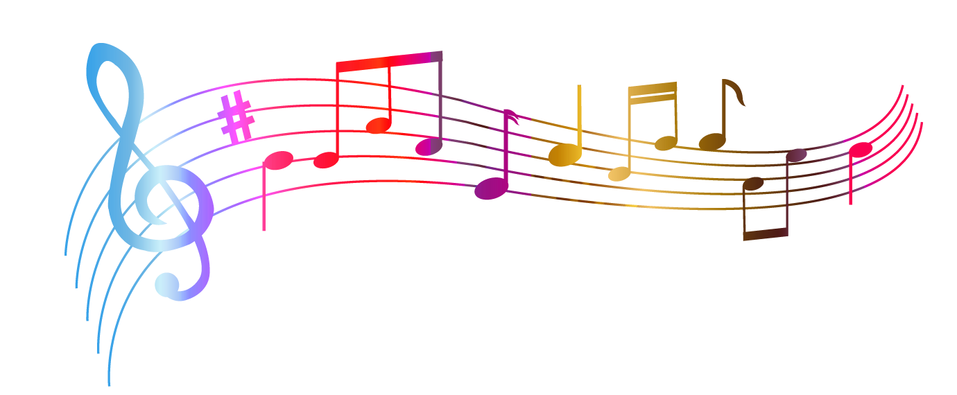 . PlusPng.com Transparent Colorful Notes PNG Clipart PlusPng.com  - Music PNG