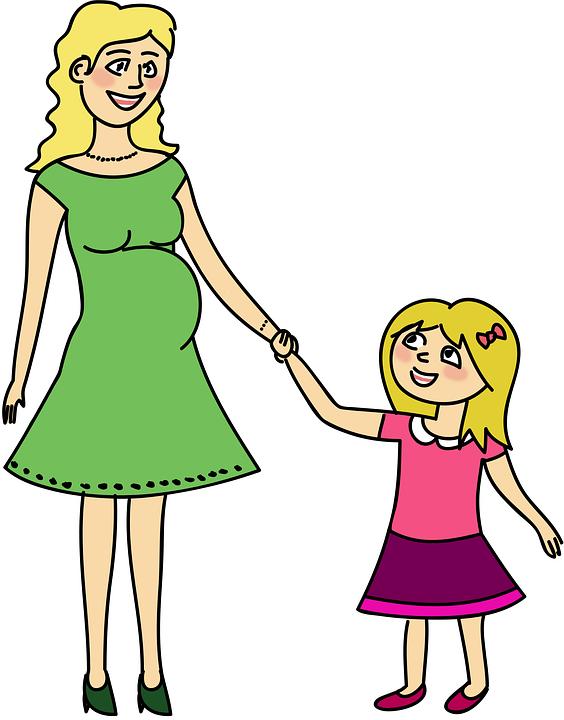 Mama, Mutter, Schwangerschaft, Schwanger, Tochter, Kind - Mutter Tochter PNG