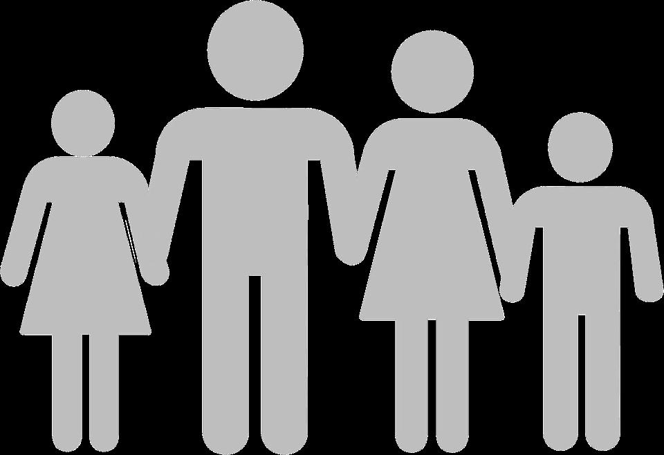 piktogramm familie vater mutter tochter sohn - Mutter Tochter PNG