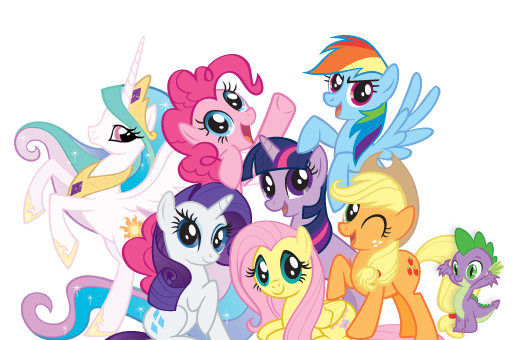 File:Group shot.png - My Little Pony HD PNG