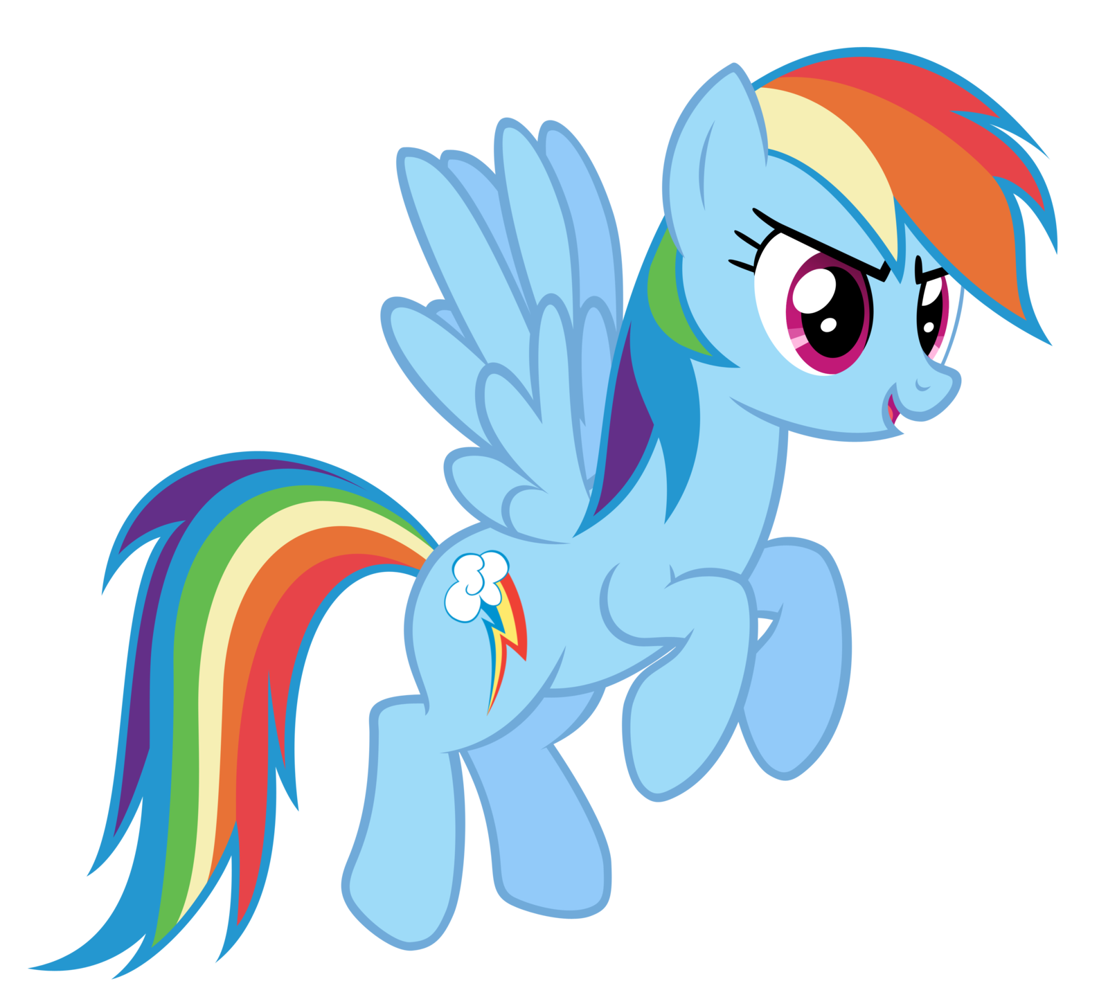 Image - FANMADE Rainbow Dash flying 2.png | My Little Pony Friendship is  Magic Wiki | FANDOM powered by Wikia - My Little Pony HD PNG