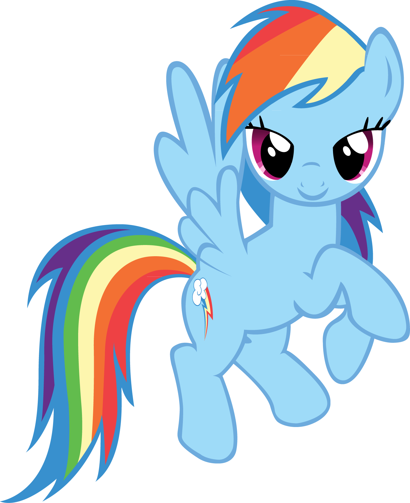 FANMADE Rainbow Dash flying.png - My Little Pony PNG