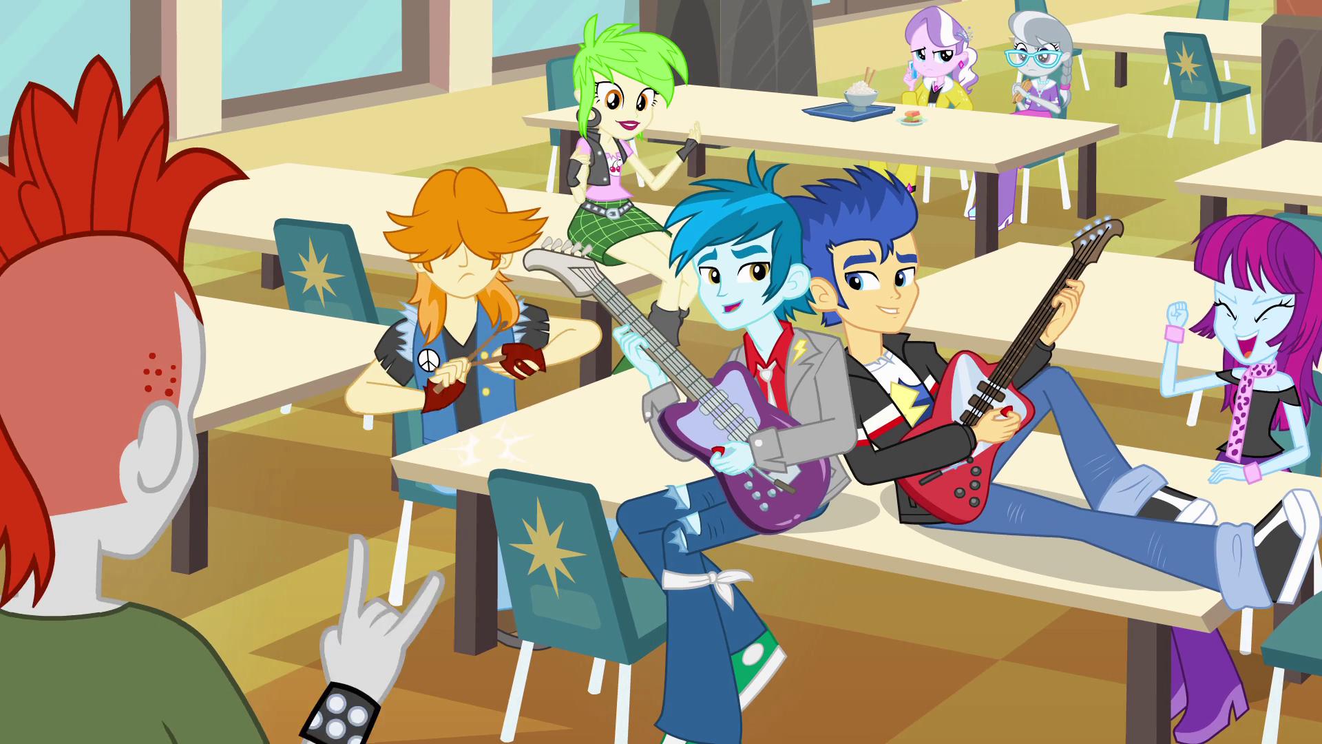 Canterlot High School rockers EG.png - My School PNG HD