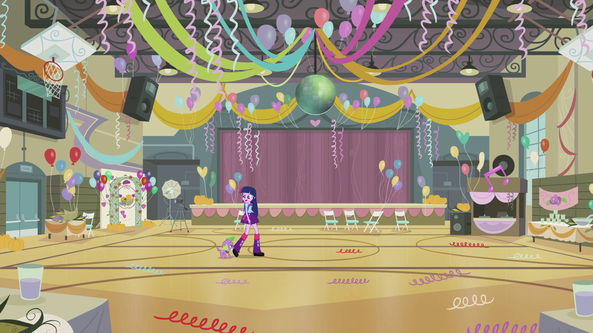 Twilight and Spike enter the gym EG.png - My School PNG HD