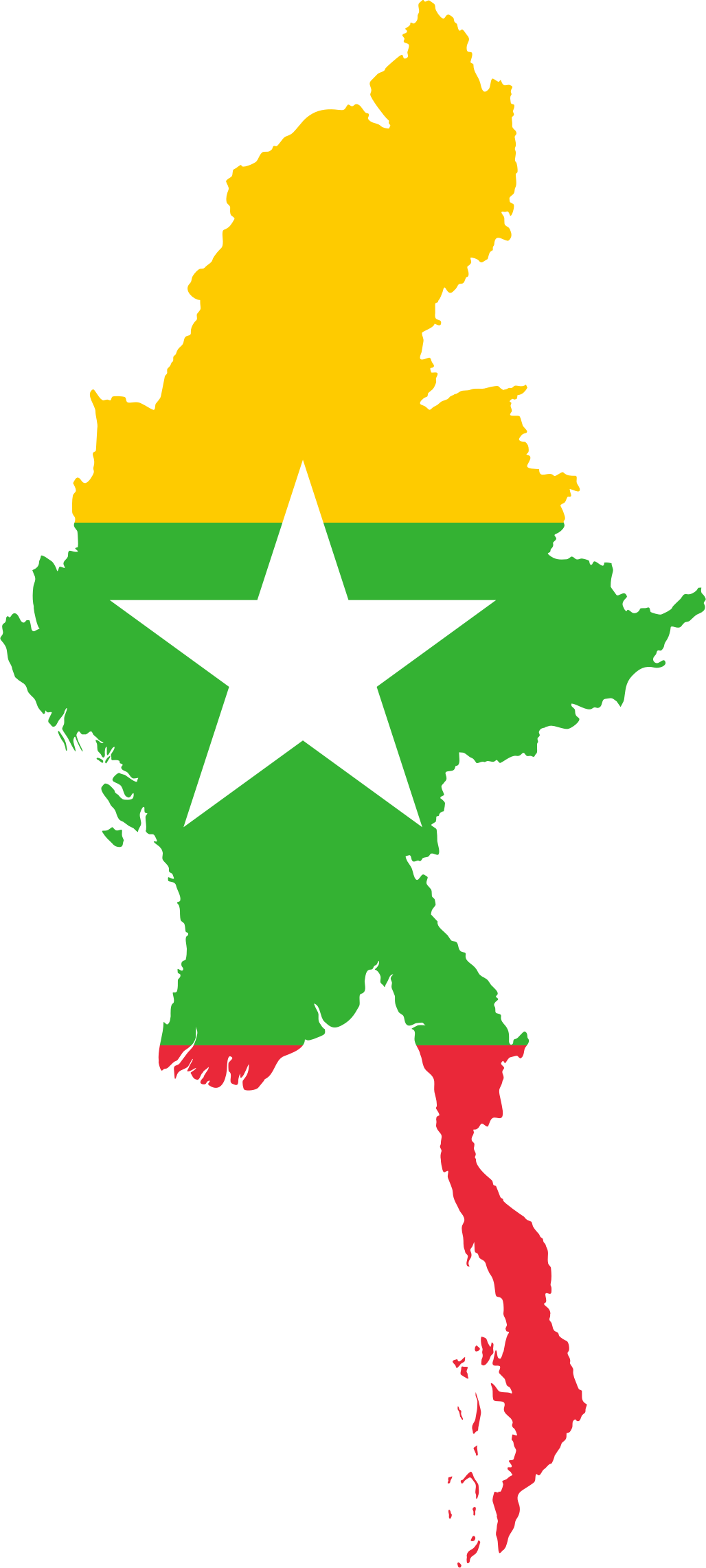 BIG IMAGE (PNG) - Myanmar Flag PNG