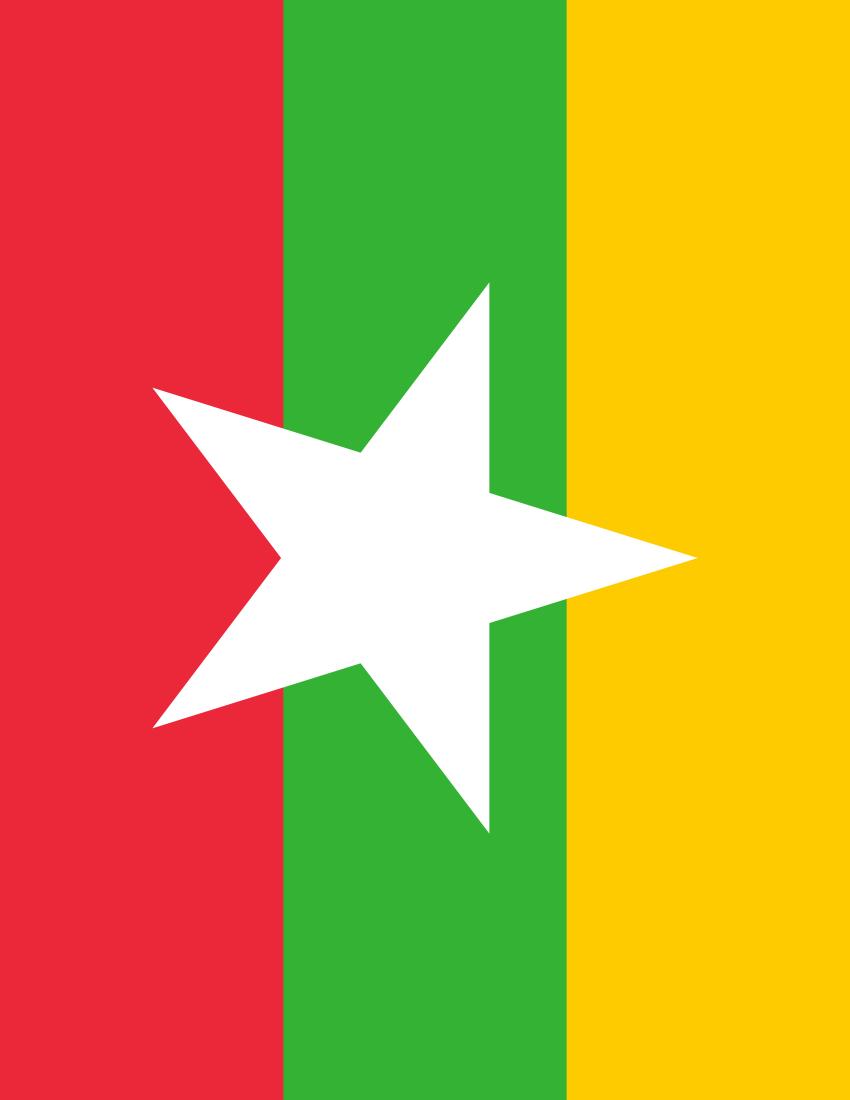 Myanmar Flag PNG - 78332