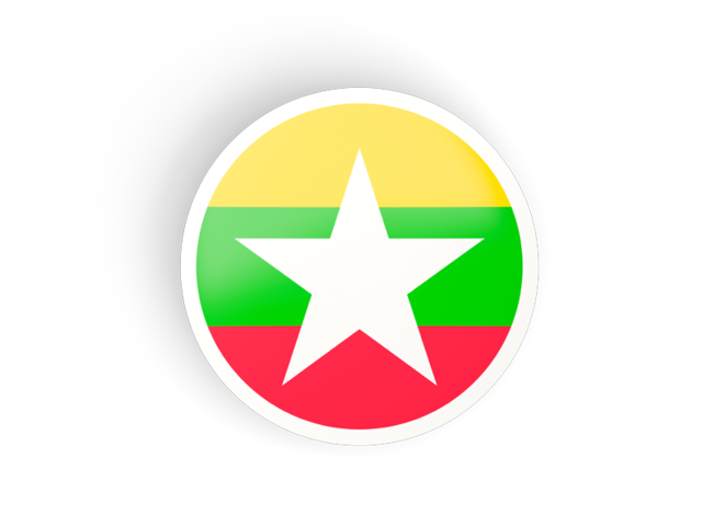 Illustration of flag of Myanmar