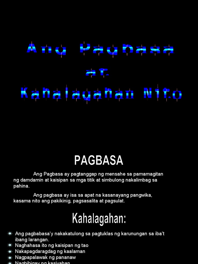 Report 1 - Ang Pagbasa at Kahalagahan Nito - Nagbabasa PNG