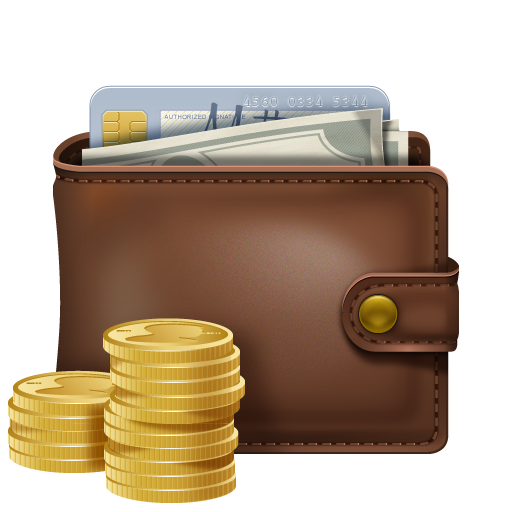 Wallet with money PNG image - Nagmamano PNG