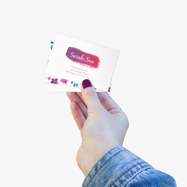 Holding a business card, HD, Female, Nail Polish Free PNG and PSD
