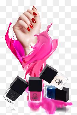 Fashion finger nail polish · PNG PSD - Nail Polish PNG