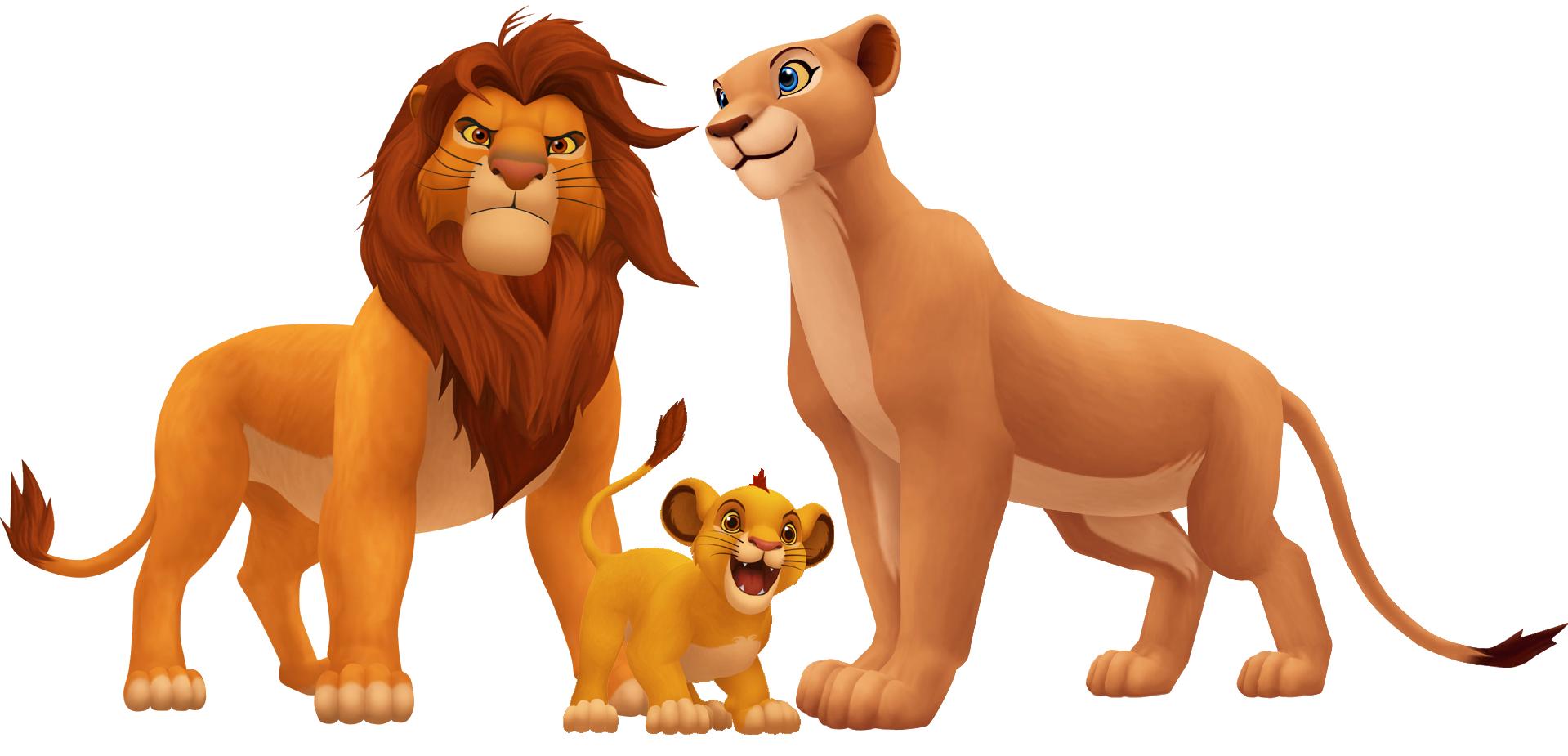 Simba, Nala and Kopa.png - Nala PNG