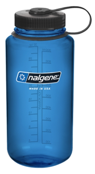 Nalgene 32OZ Wide Mouth Cool Colors 32OZ WIDE MOUTH Blue Bottle With Black  Cap PlusPng.com  - Nalgene PNG